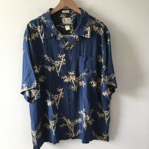 Reyn Spooner Silk Coral Print Hawaiian Button Down